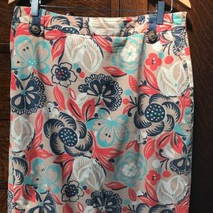 Boden floral skirt. Size 10 Long.
